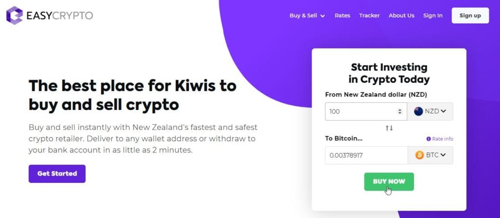 Buy Bitcoin through Easy Crypto NZ