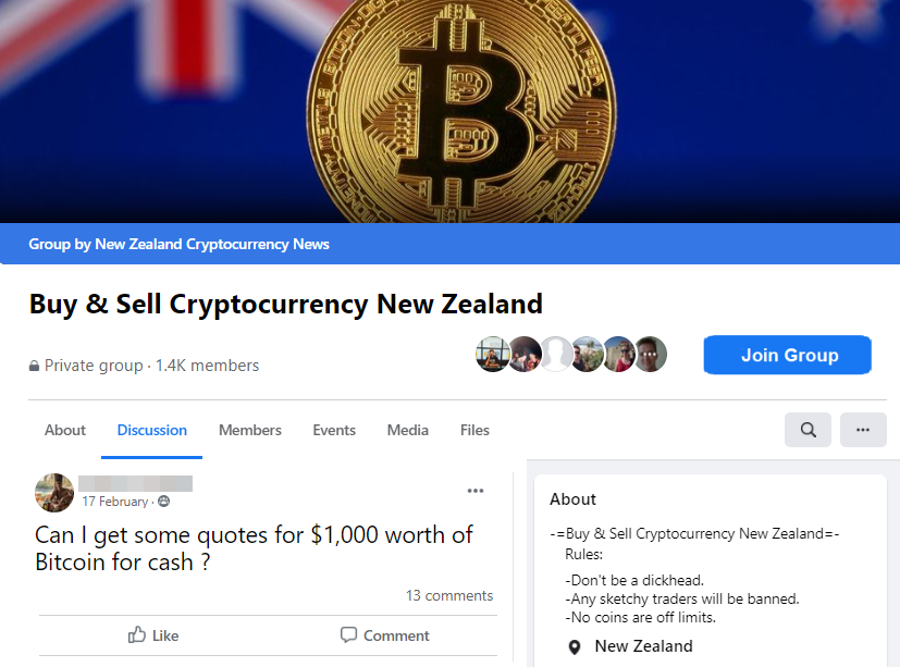 Buy & Sell Cryptocurrency group