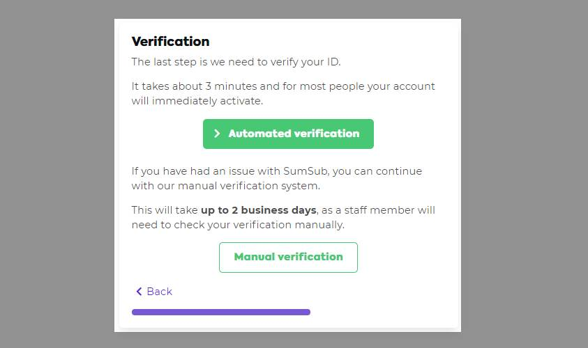 Automatic verification EC NZ