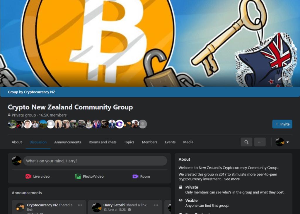Crypto New Zealand Community Group NZ