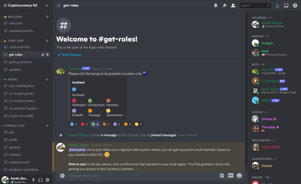 Cryptocurrency NZ Discord