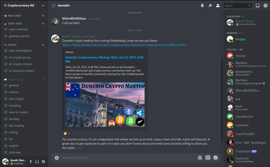 Cryptocurrency NZ Discord Server