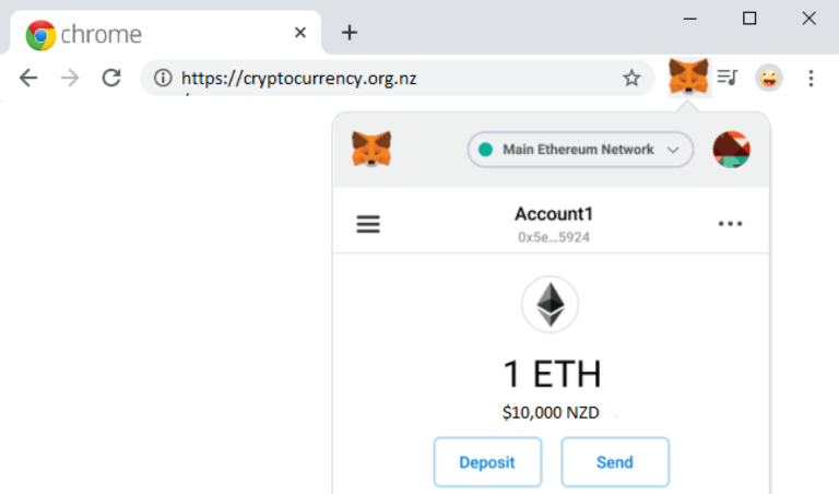 MetaMask Browser Extension Cryptocurrency bitcoin ethereum Crypto wallet NZ